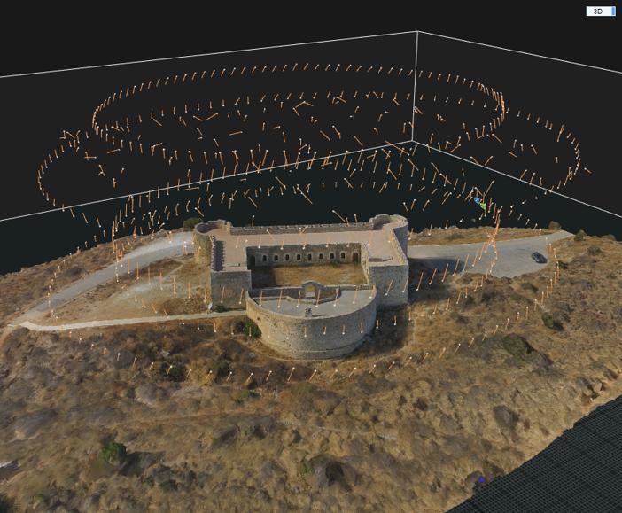 Ψηφιοποίηση Κάστρου Αρχαίας Απτέρας με χρήση Drone